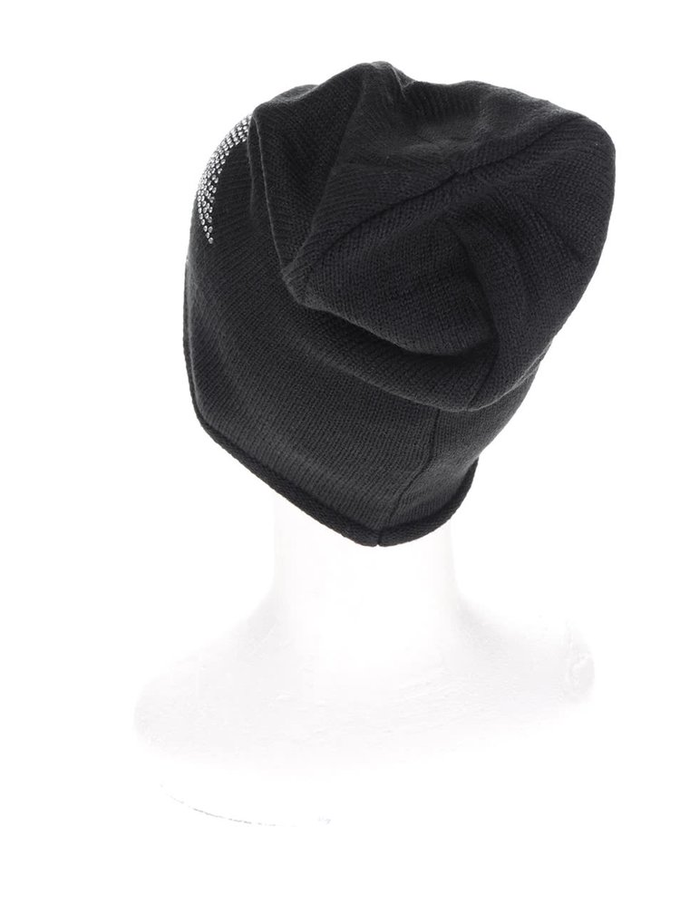 Černá čepice se zdobením ve tvaru hvězdy Haily´s Strassstern