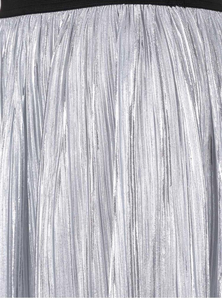 Plisovaná midi sukňa v striebornej farbe TALLY WEiJL