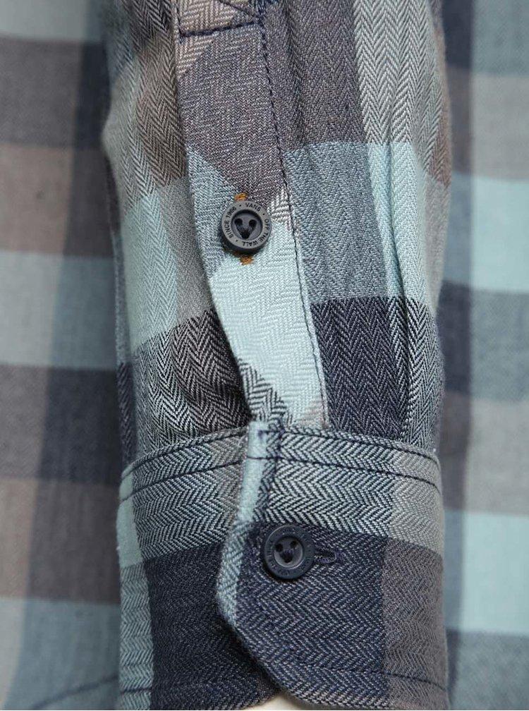 Modro-šedá pánská kostkovaná košile Vans Alameda Stone