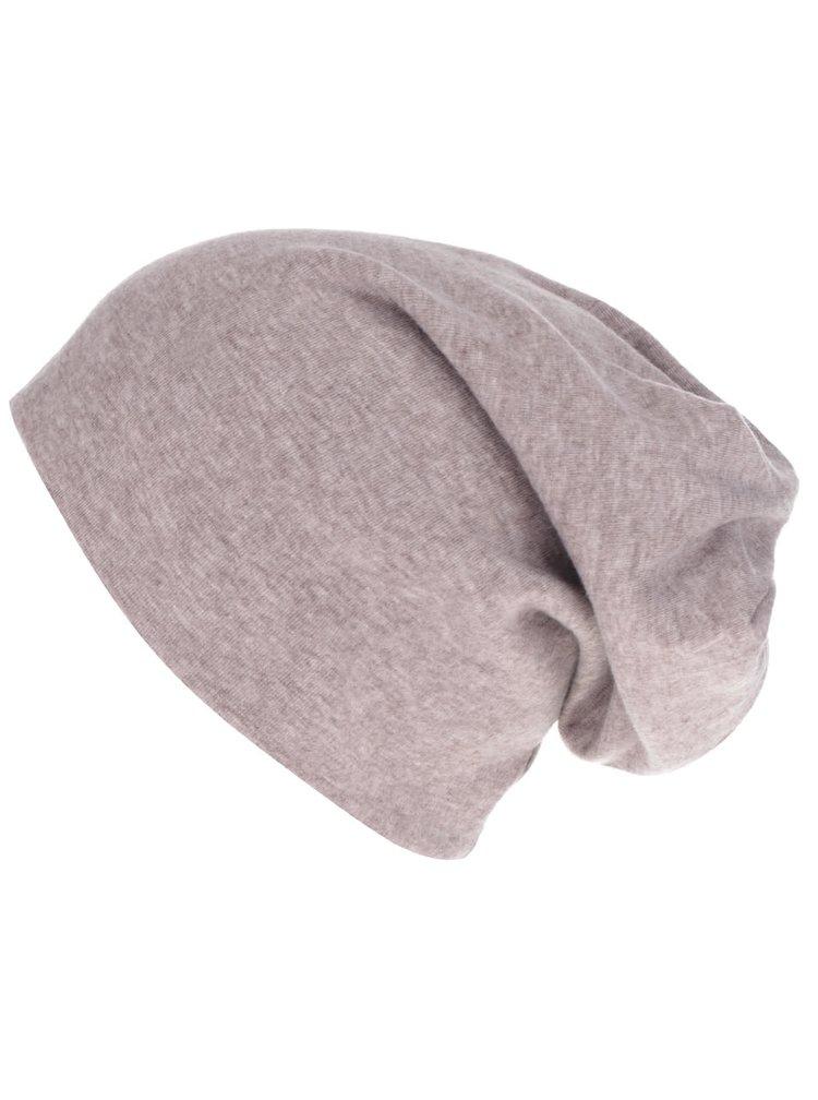 Hnědošedá žíhaná čepice s detaily Haily´s Mütze