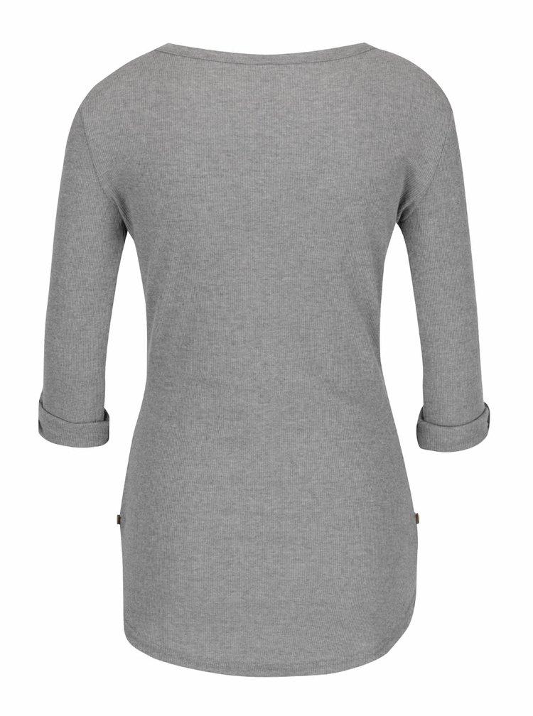 Světle šedé tričko s 3/4 rukávem Haily´s Marry