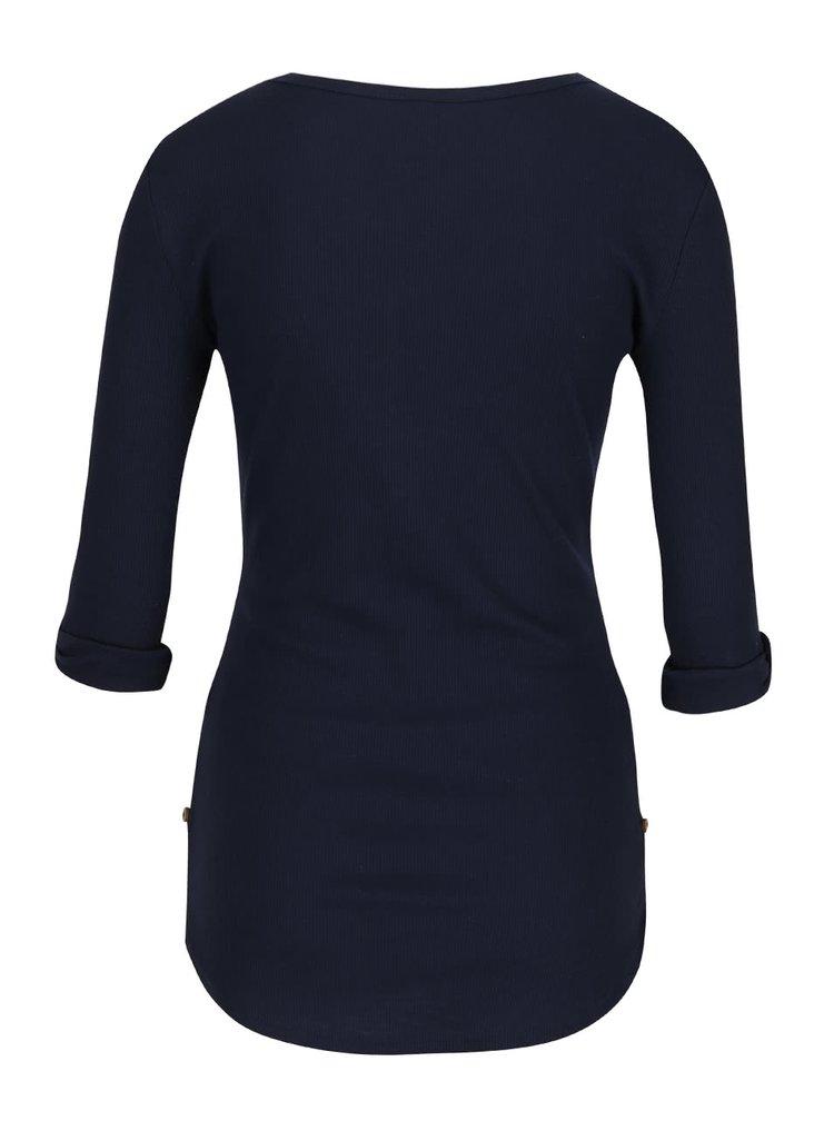 Modré tričko s 3/4 rukávom Haily's Marry