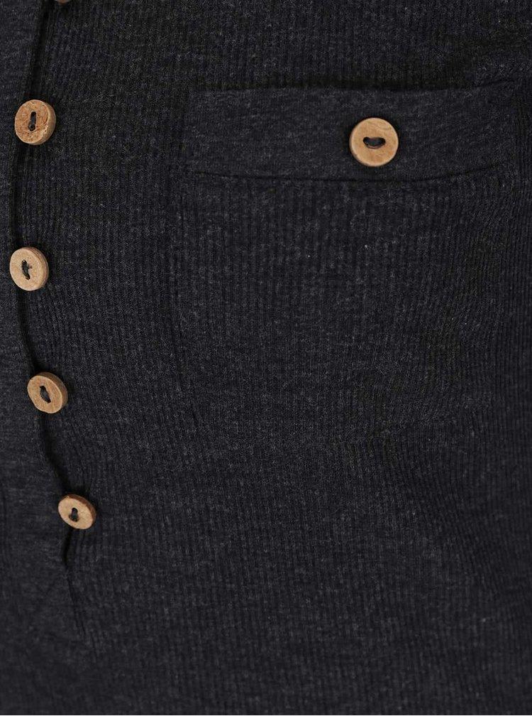 Tmavosivé tričko s 3/4 rukávom Haily´s Marry
