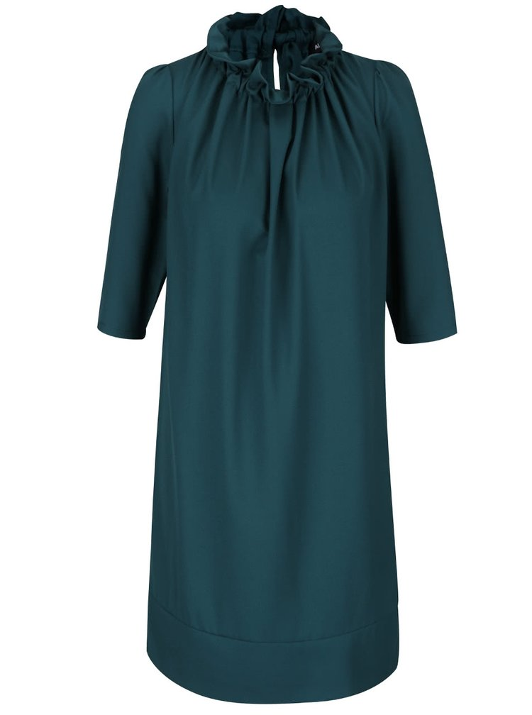 Zelené šaty s 3/4 rukávy Alchymi Lorre