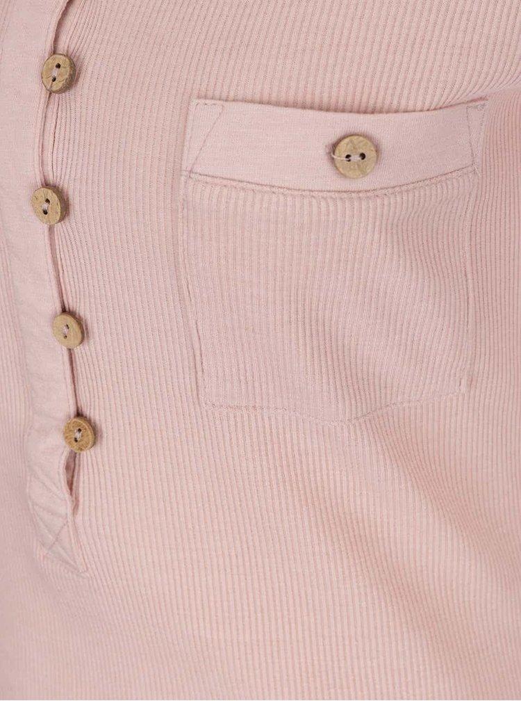 Starorůžové tričko s 3/4 rukávem Haily´s Marry