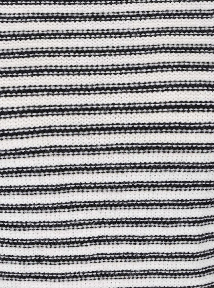 Pulover alb cu negru în dungi TALLY WEiJL