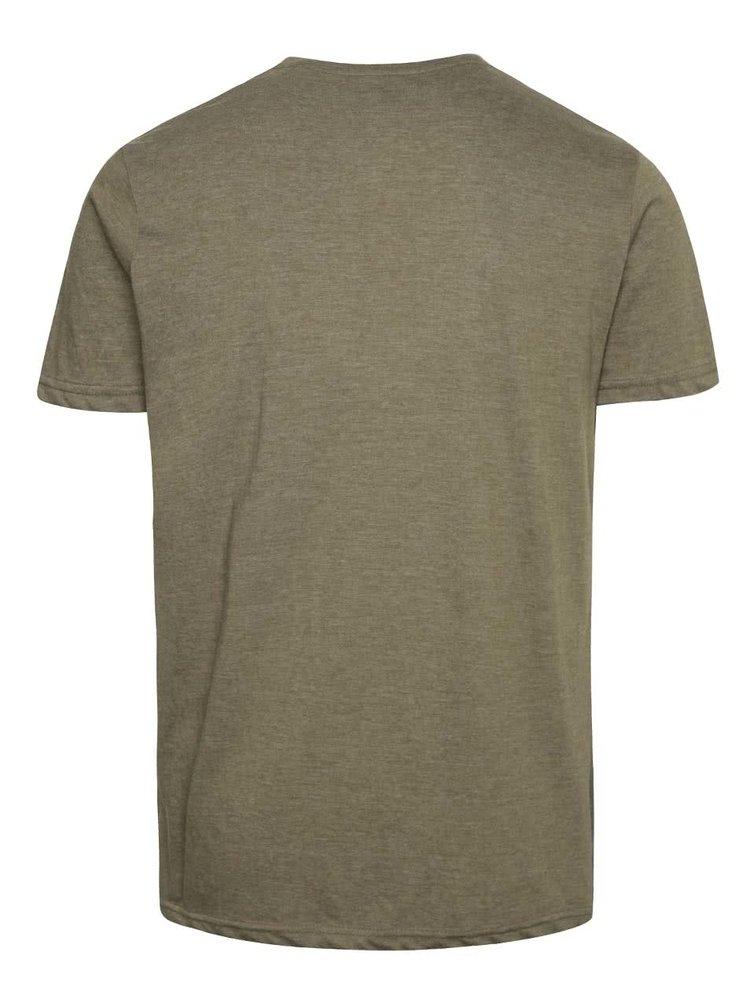 Zelené žíhané triko s potiskem !Solid Frej