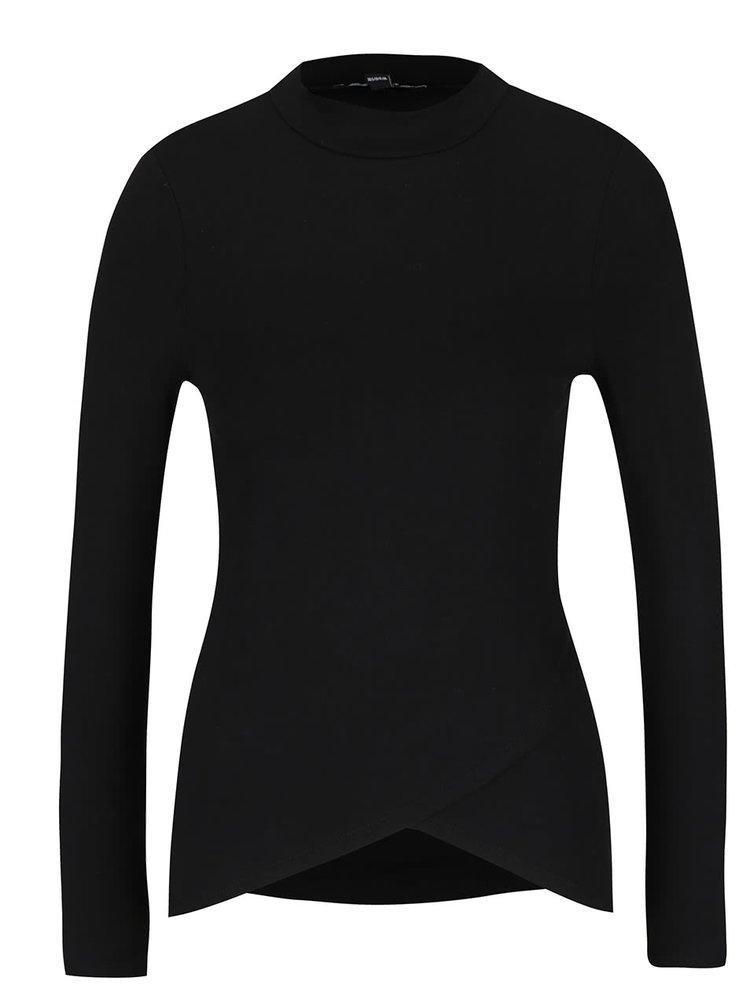 Černé tričko se stojáčkem a dlouhým rukávem TALLY WEiJL