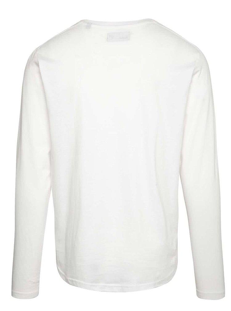 Bílé triko s dlouhými rukávy !Solid Farzad