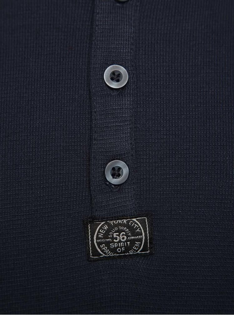 Tmavě modré triko s dlouhými rukávy !Solid Ference