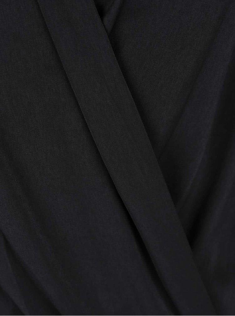 Černé body s dlouhým rukávem a překládaným výstřihem TALLY WEiJL