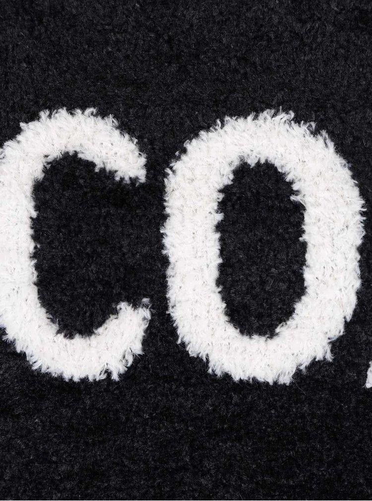 Čierny sveter s dlhým rukávom TALLY WEiJL