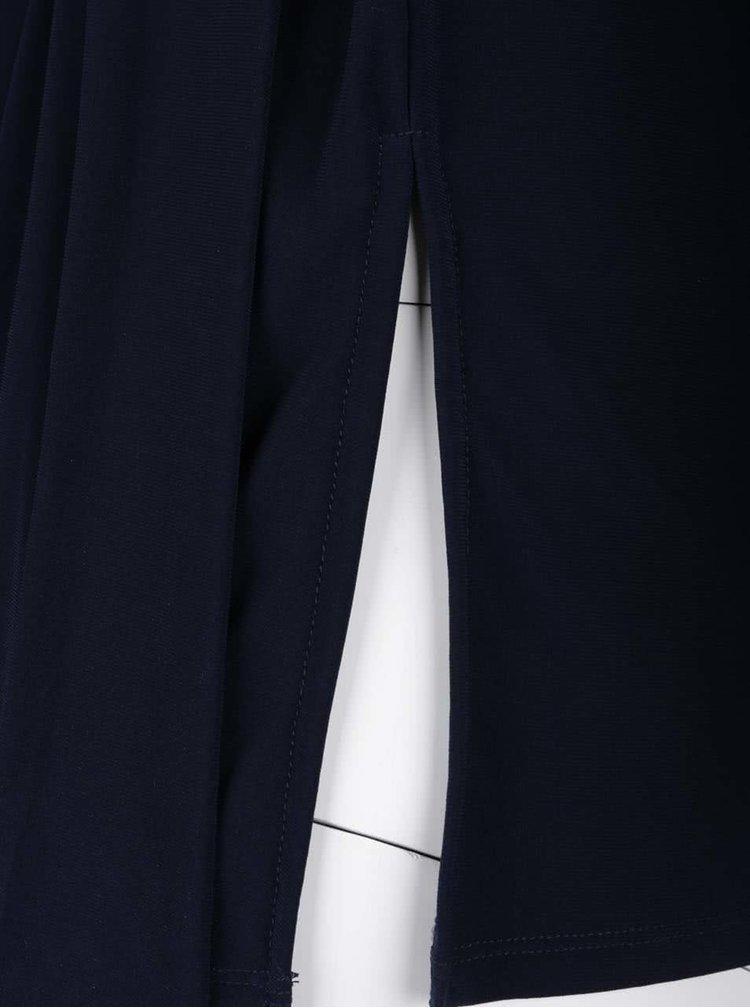 Tmavě modrý top s vázankou Dorothy Perkins Curve