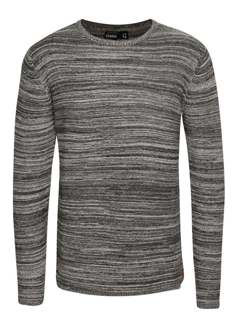 Šedý žíhaný svetr !Solid Fray