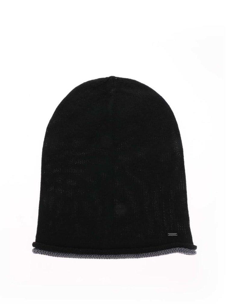 Černá čepice !Solid Edmundo