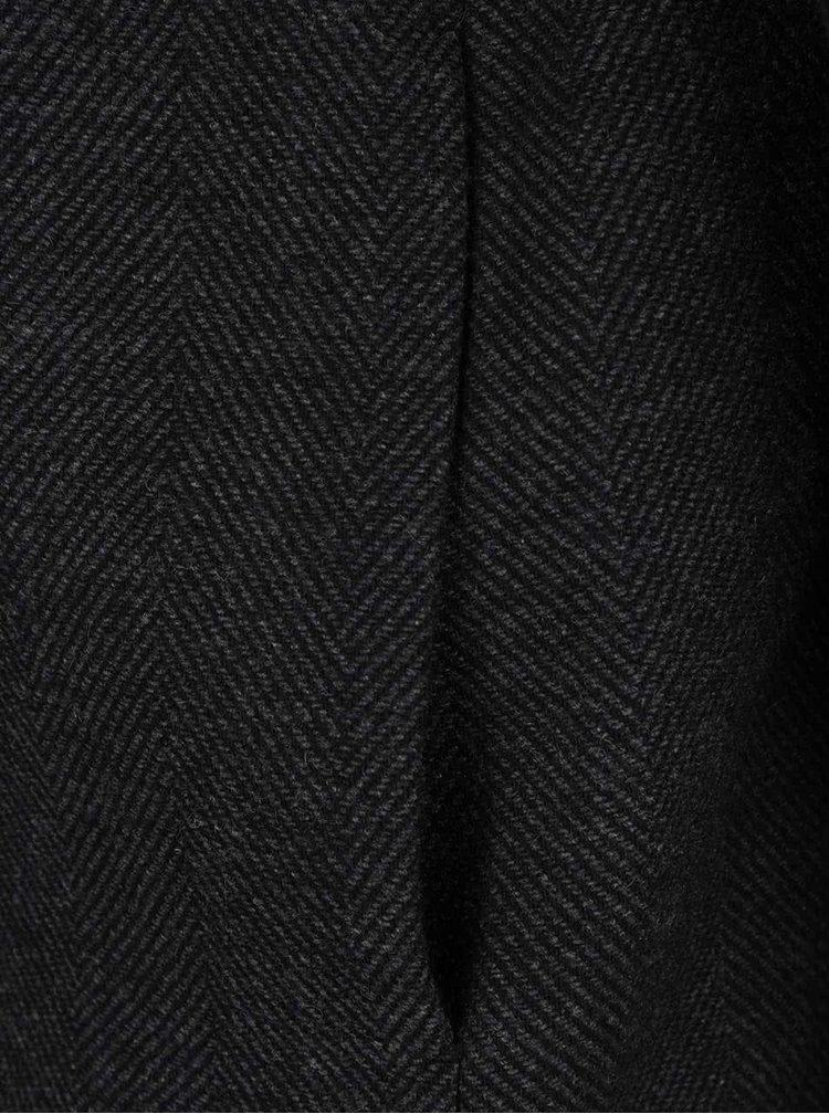Tmavě šedý kabát s jemným vzorem Selected Homme Bone