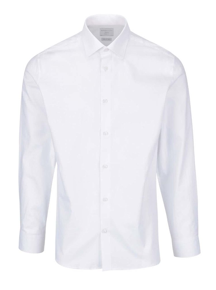 Bílá košile s jemným vzorem Selected Homme Two Easy