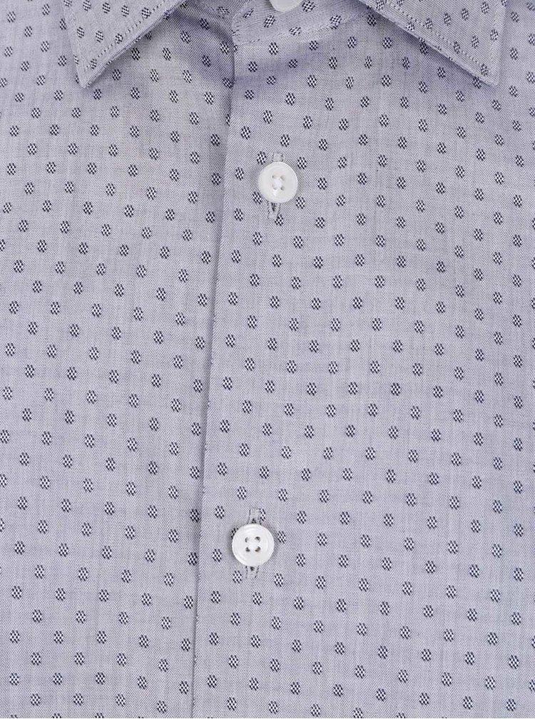 Sivá vzorovaná košeľa Selected Homme Two Easy