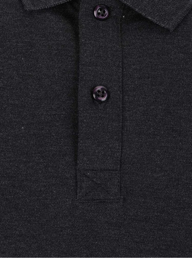 Tmavě šedé polo tričko Selected Homme Haro