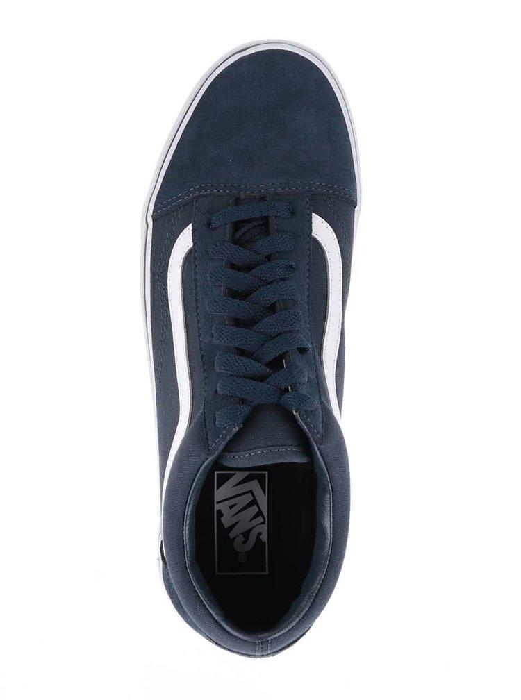 Tmavě modré pánské tenisky se semišovými detaily Vans Old Skool