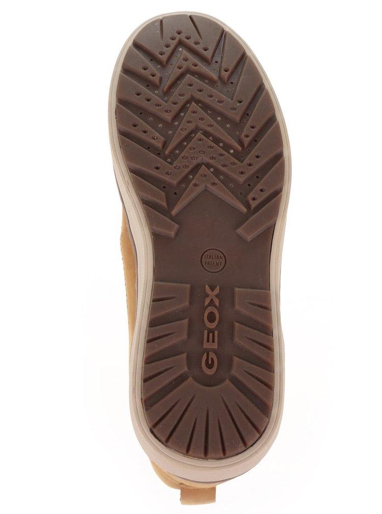 Hořčicové pánské kožené kotníkové boty Geox Mattias