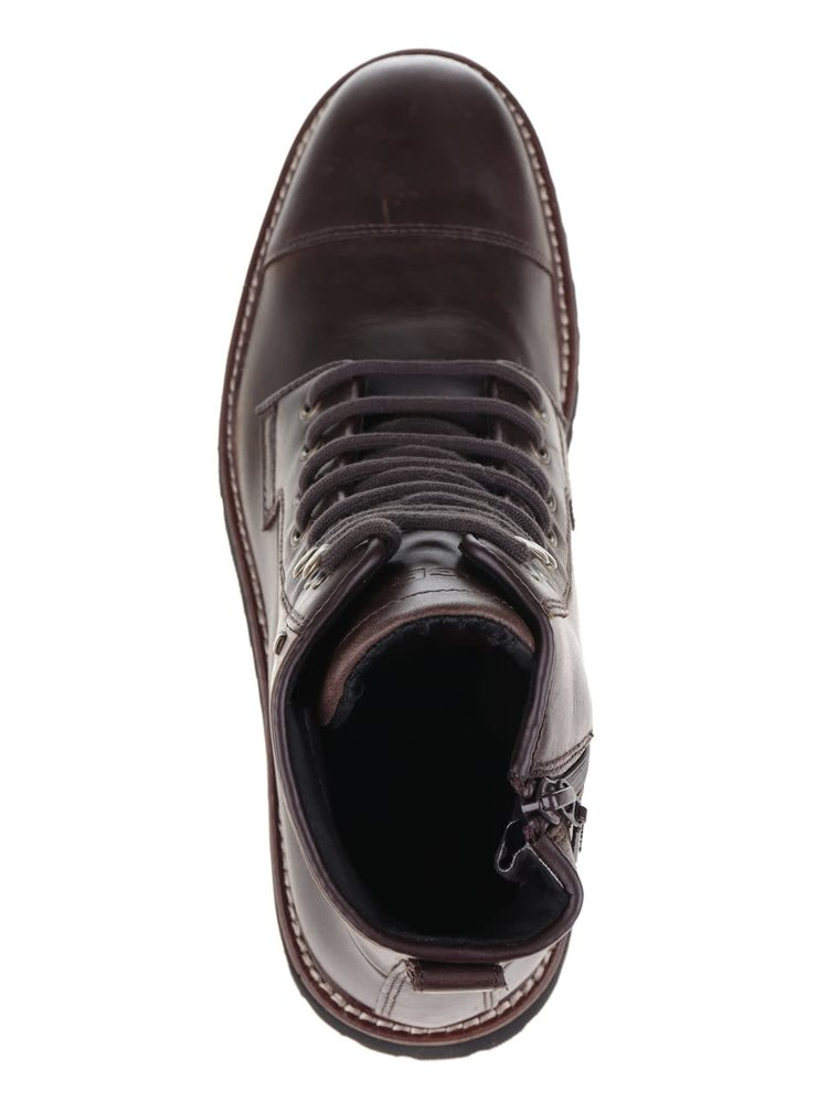 Tmavě hnědé pánské kožené kotníkové boty Geox Kieven
