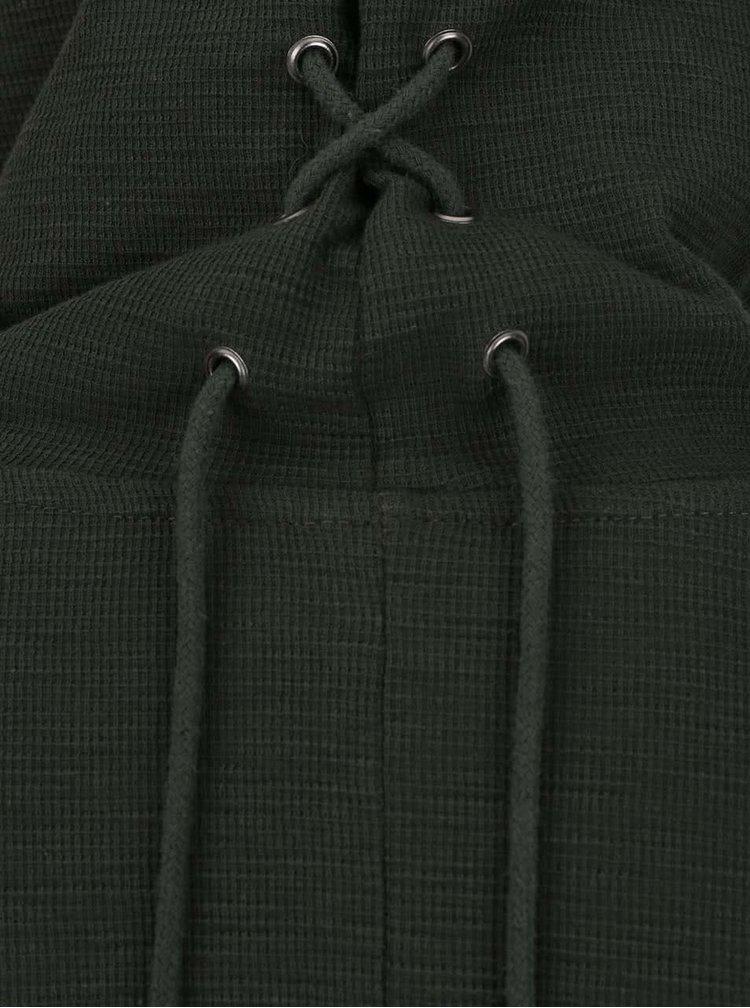 Tmavě zelená mikina bez zapínání Jack & Jones Close