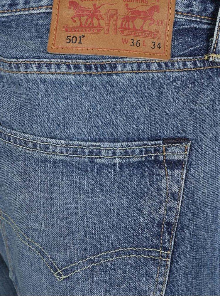 Modré pánské džíny s vyšisovaným efektem Levi's® 501® Original