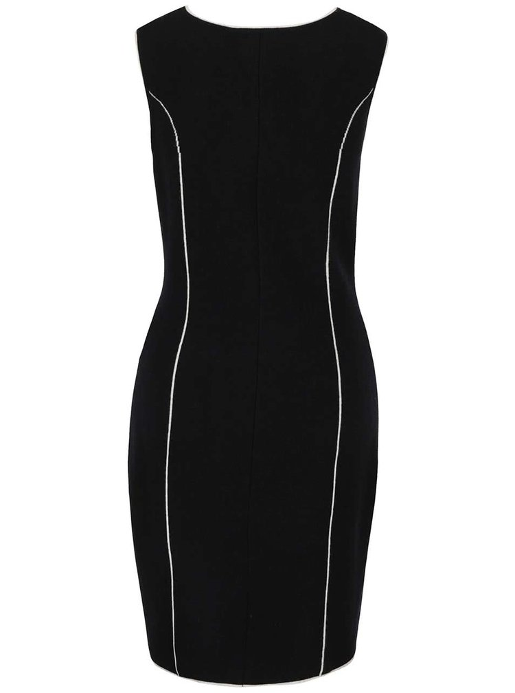 Černé svetrové šaty bez rukávů Lavand