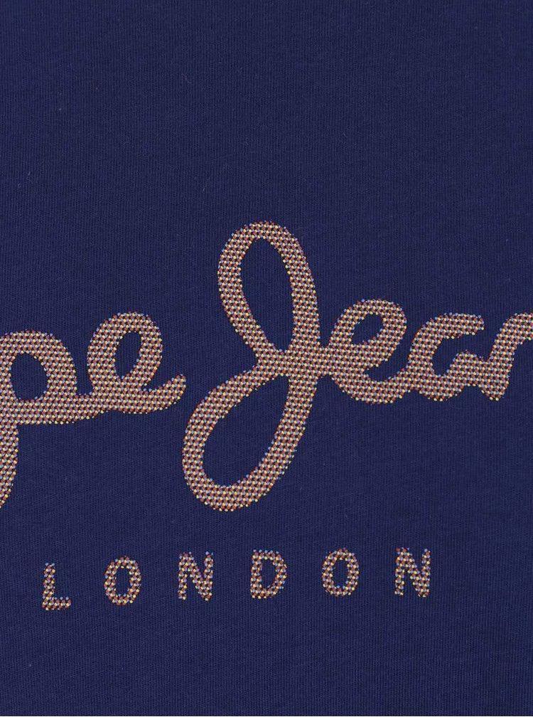 Tmavě modré pánské triko s potiskem Pepe Jeans Sail
