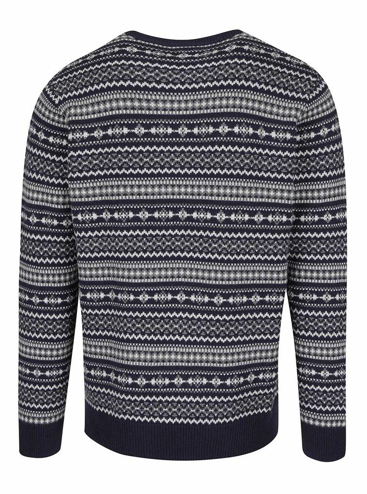 Tmavě modrý pánský vzorovaný svetr Levi's®