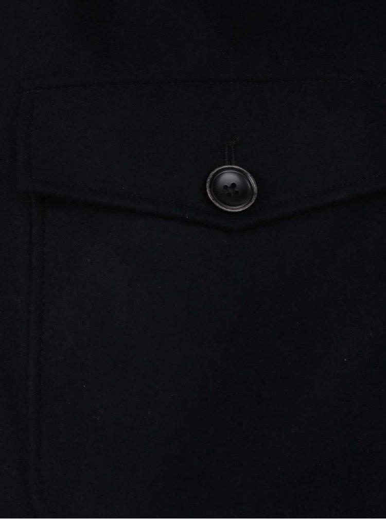 Tmavě modrý vlněný krátký kabát Jack & Jones San Pedro