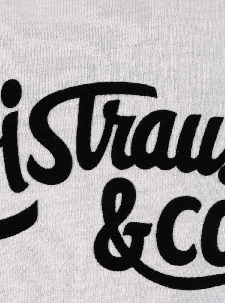 Černo-krémové pánské triko s potiskem a dlouhým rukávem Levi's®
