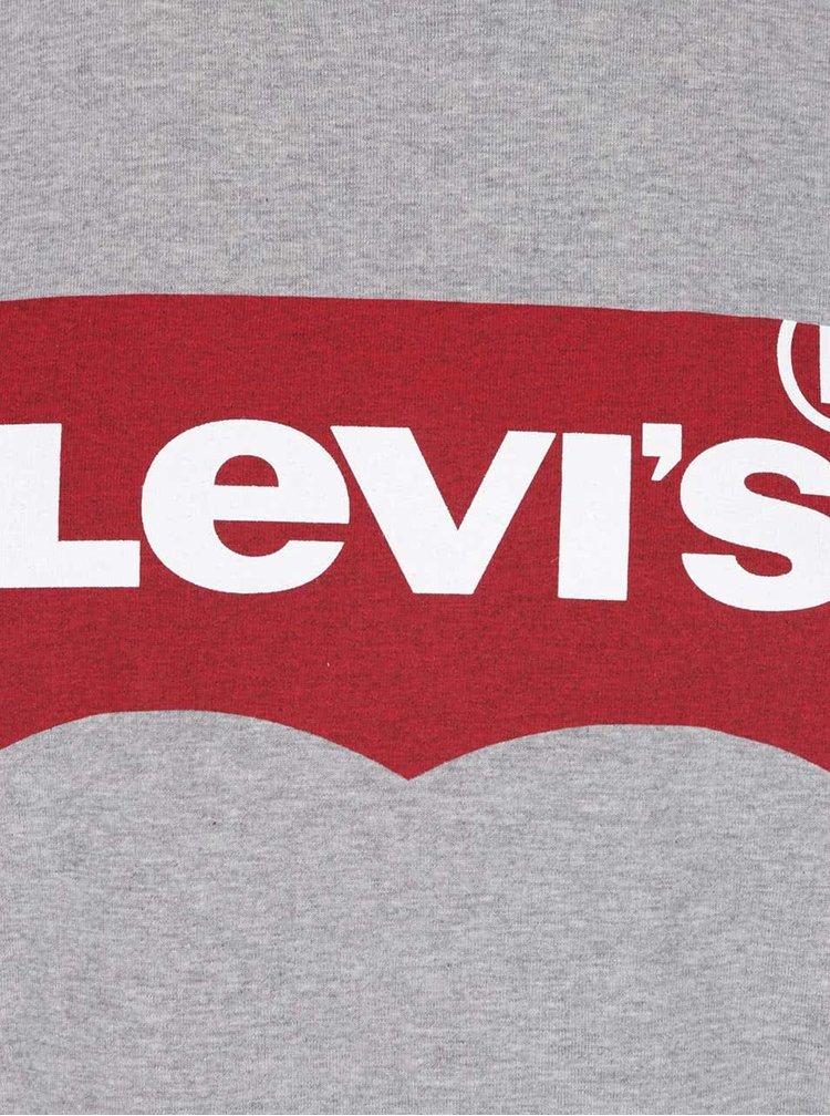 Tricou gri melanj Levi's® cu print