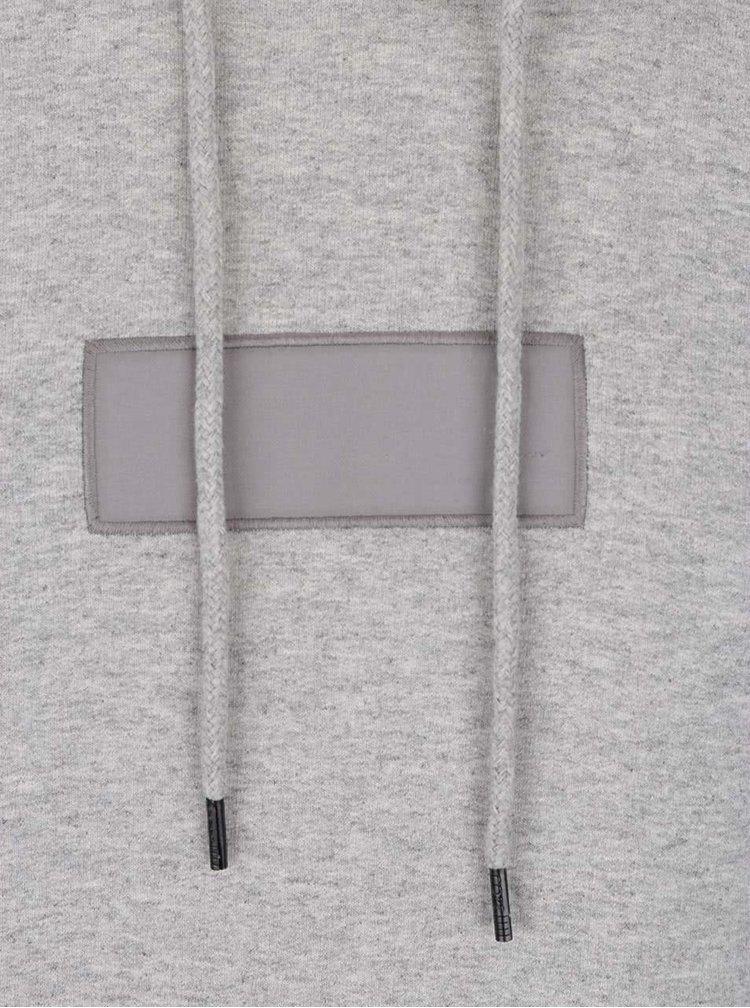 Světle šedá mikina s kapucí Jack & Jones Covera