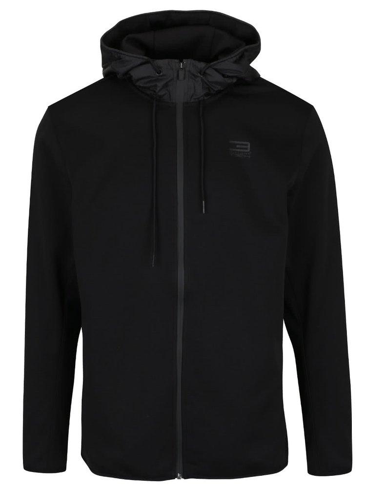 Černá sportovní bunda s kapucí Jack & Jones Flex