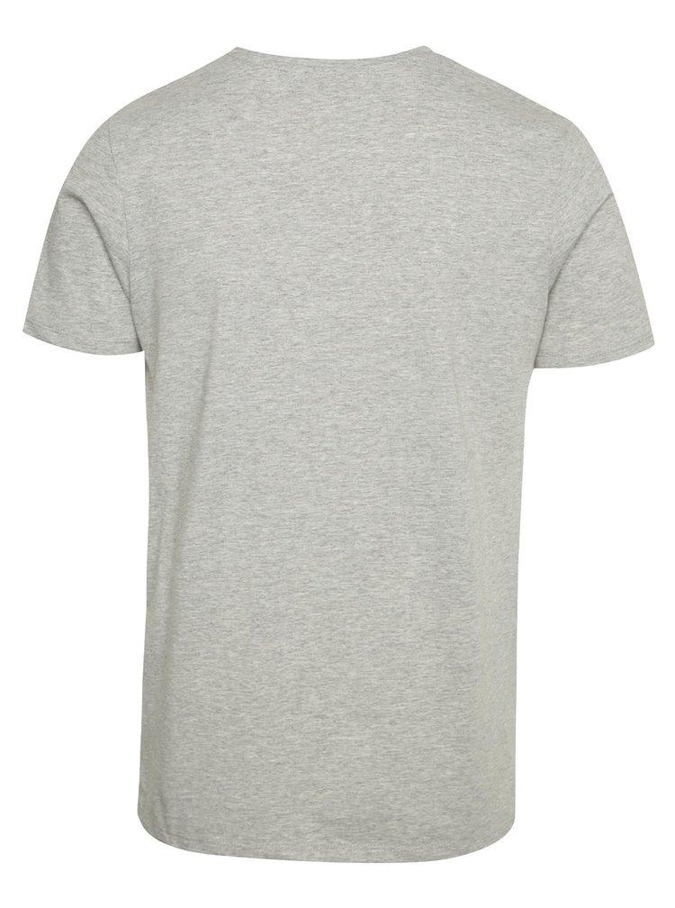 Světle šedé triko s krátkým rukávem Jack & Jones Vince
