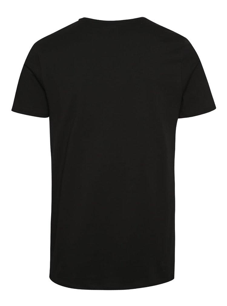 Černé triko s krátkým rukávem Jack & Jones Vince