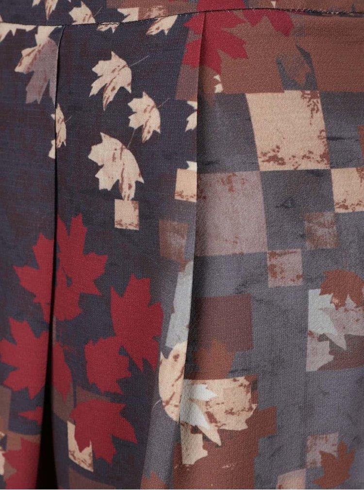 Červeno-šedá vzorovaná minisukně Lavand