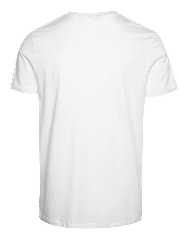 Bílé triko s krátkým rukávem Jack & Jones Vince