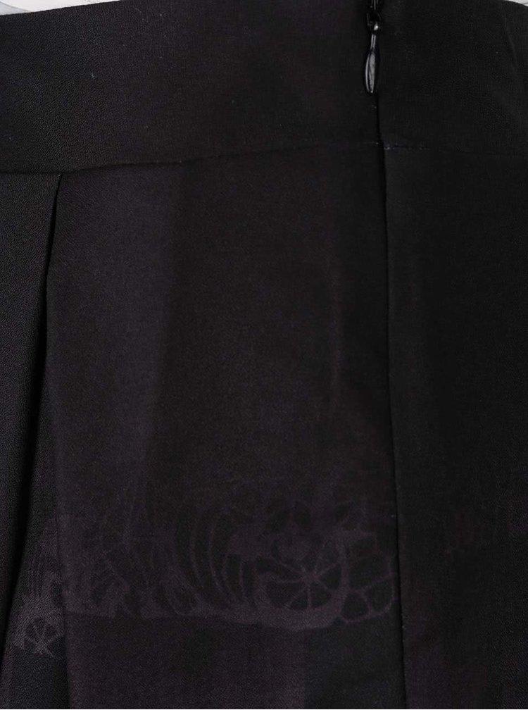 Černá minisukně s potiskem Lavand