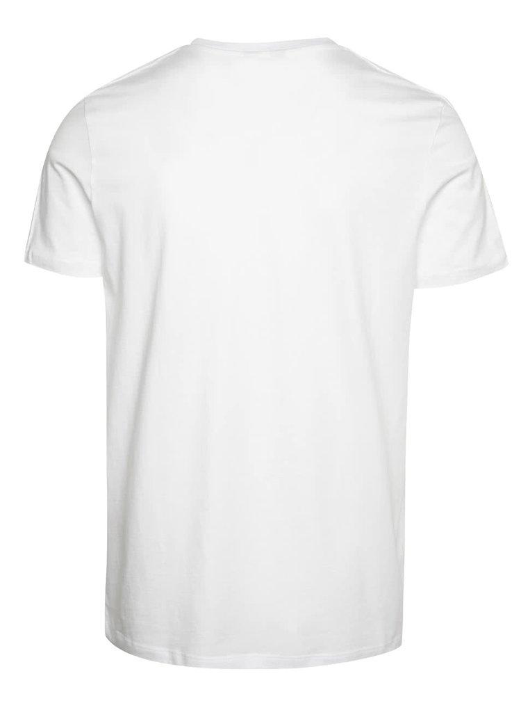Bílé triko s krátkým rukávem Jack & Jones Valentino