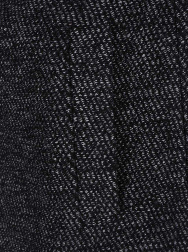Tmavě šedý vlněný kabát Jack & Jones Christian