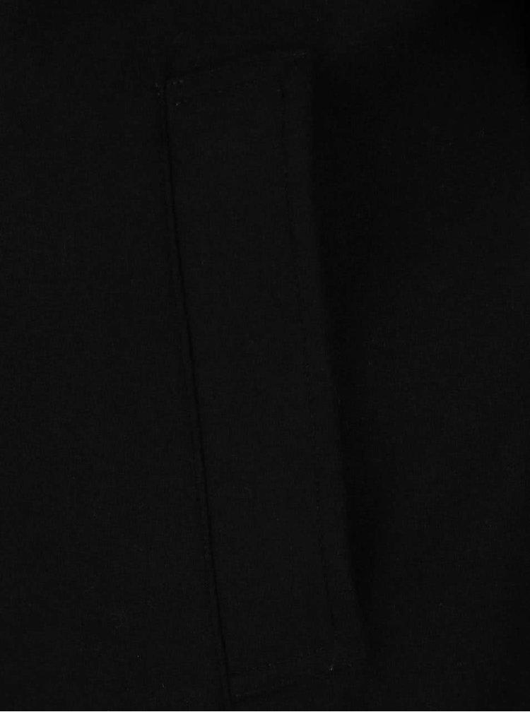 Černý vlněný kabát Jack & Jones Joe