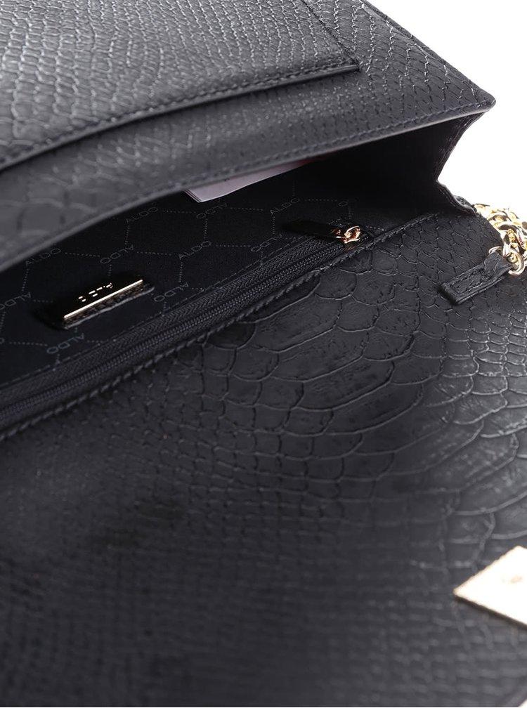 Čierna crossbody kabelka s detailmi v zlatej farbe ALDO Ocelavia