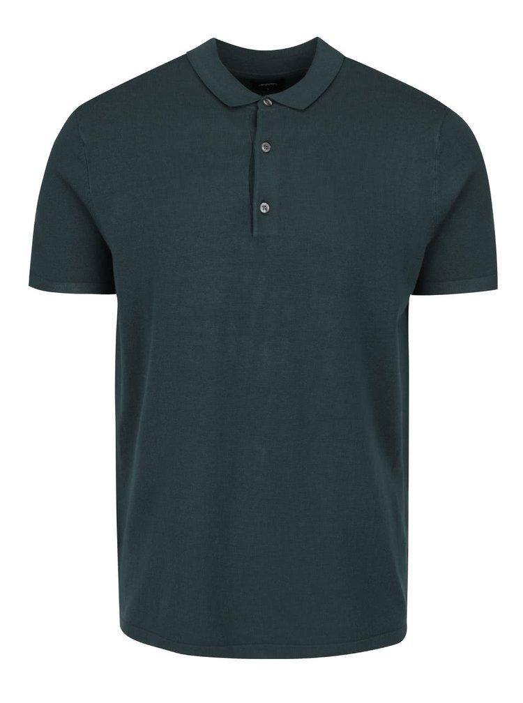 Tmavě zelené polo triko Burton Menswear London