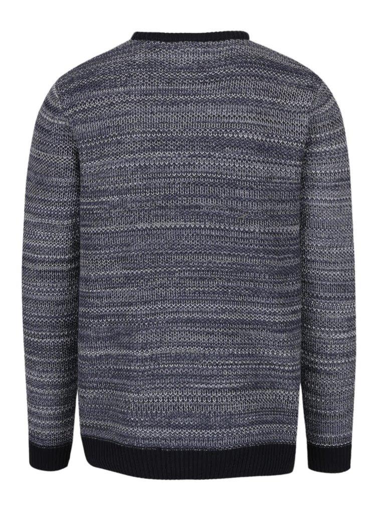 Pulover albastru & crem Burton Menswear London din bumbac