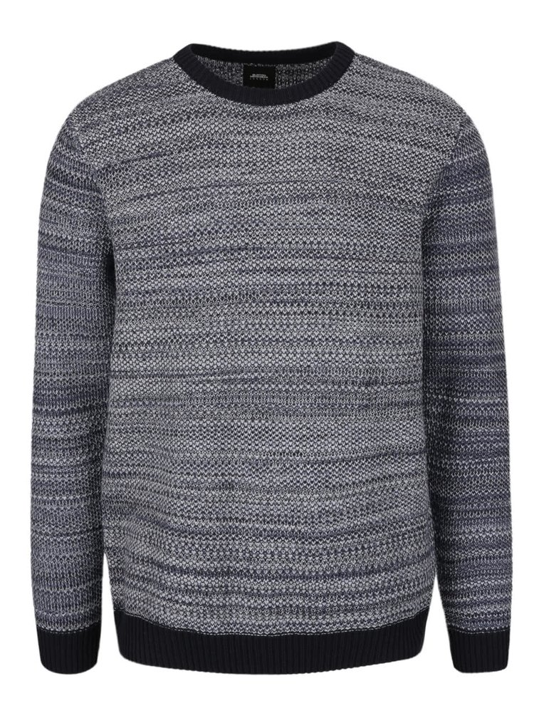 Krémovo-modrý žíhaný svetr Burton Menswear London