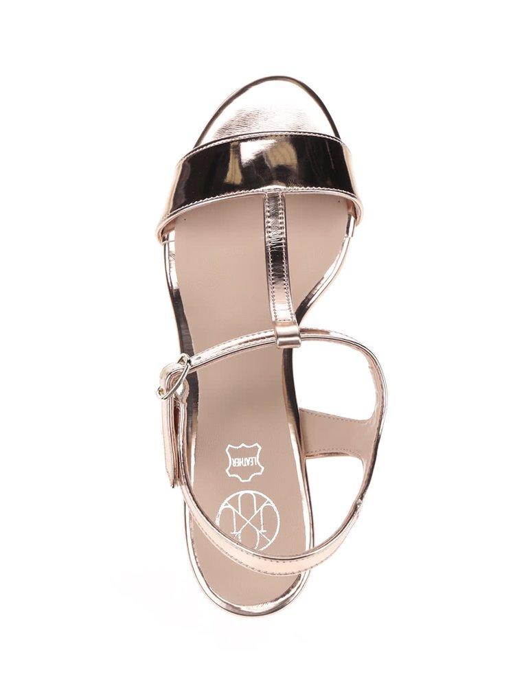 Sandale cu aspect roz lucios OJJU
