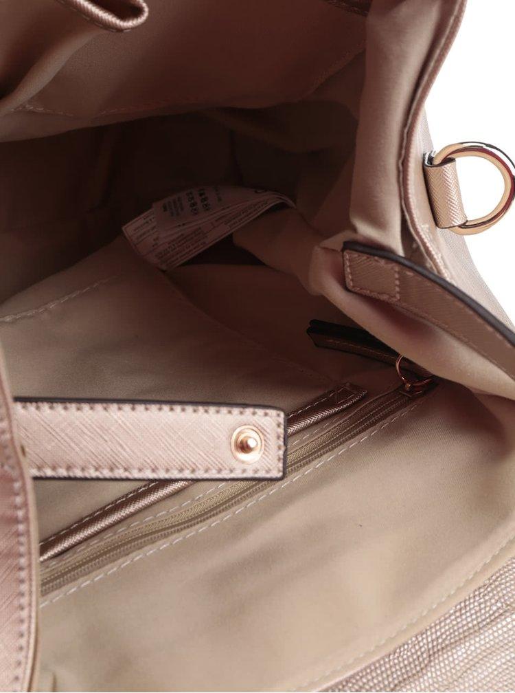 Batoh v zlatej farbe s ozdobným zipsom ALDO Foundation